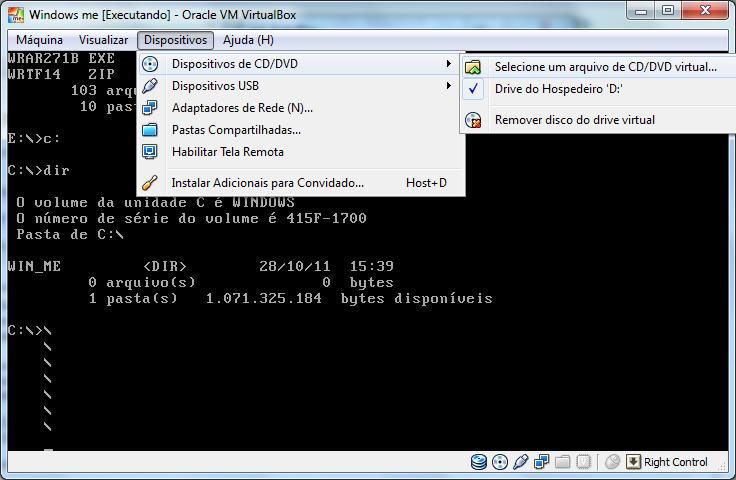 Instalando Windows ME com VirtualBox