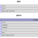 apc e apcu com php 7